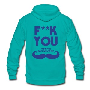 F**K You - Unisex Fleece Zip Hoodie by American Apparel
