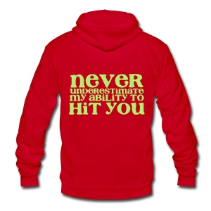 Hit You - Unisex Fleece Zip Hoodie by American Apparel