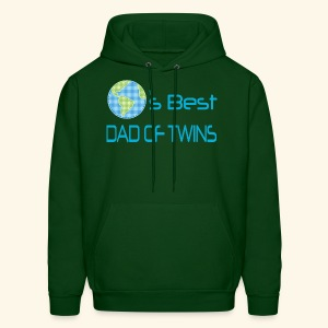 Dad Of Twins Hoodie (World's Best) - Men's Hoodie