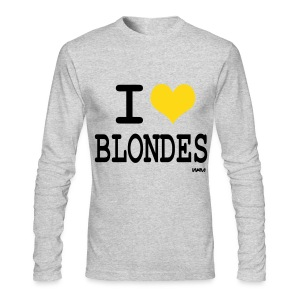 I Love Blondes - Men's Long Sleeve T-Shirt by Next Level
