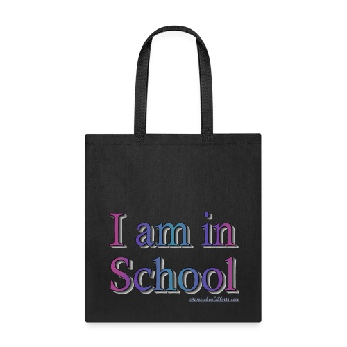 I Am In School Purple/Blue - Tote Bag