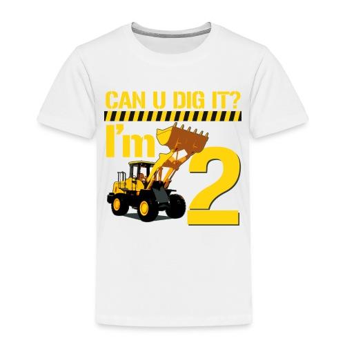 I'm Two Tee - Toddler Premium T-Shirt