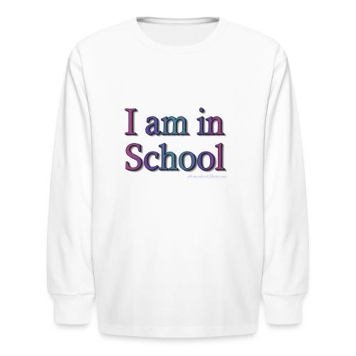 In School Purple - Kids' Long Sleeve T-Shirt