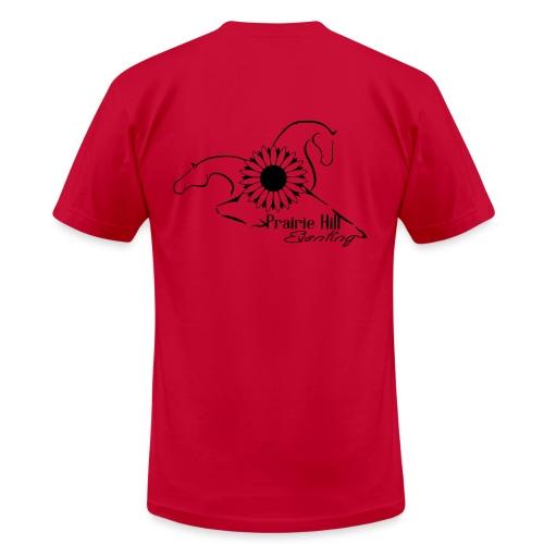 Plain Logo - Black - Men's Fine Jersey T-Shirt