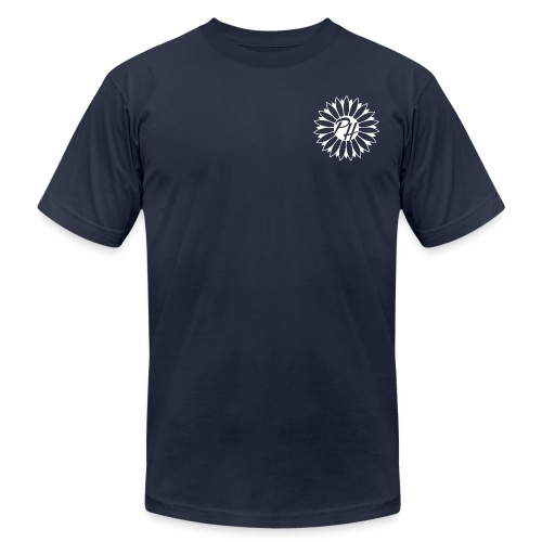 Plain Logo - White - Men's Fine Jersey T-Shirt