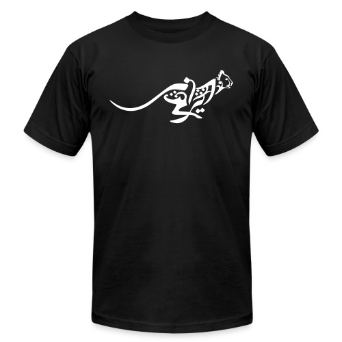 Blazing Cheetah Men's Tee with World Cup Emblem on back - Men's Fine Jersey T-Shirt