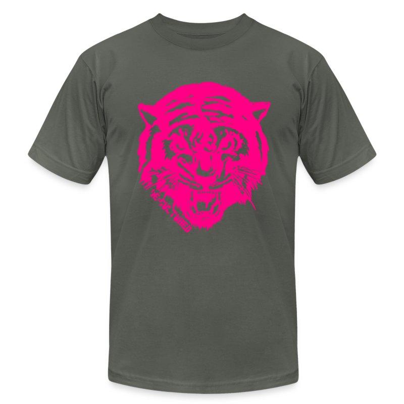 De//Cultured - Tiger - Men's T-Shirt - Neon Pink Print T-Shirt ...