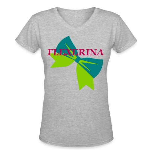 HAIRBOWS AND DUMBBELLS - Women's V-Neck T-Shirt