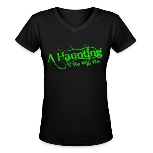 AHWWG Green Logo Front  - Women's V-Neck T-Shirt