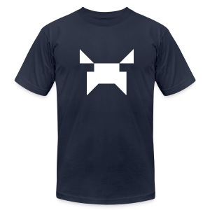 Wobblecraft Face Tee Navy - Men's T-Shirt by American Apparel