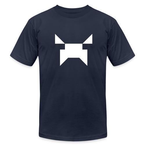 Wobblecraft Face Tee Navy - Men's Fine Jersey T-Shirt