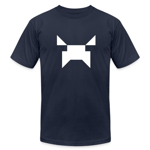 Wobblecraft Face Tee Navy - Men's  Jersey T-Shirt