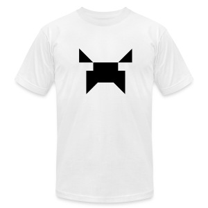 Wobblecraft Face Tee White - Men's T-Shirt by American Apparel