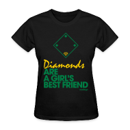 Women's T-Shirts ~ Women's T-Shirt ~ Diamonds (black) - Women's Tee