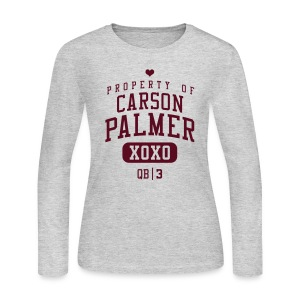PROPERTY OF Carson Palmer (QB #3) XOXO  - Women's Long Sleeve Jersey T-Shirt