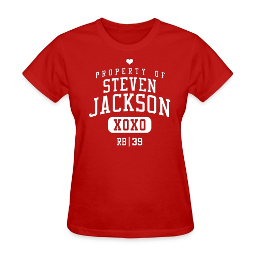 PROPERTY OF Steven Jackson (RB #39) XOXO - Women's T-Shirt