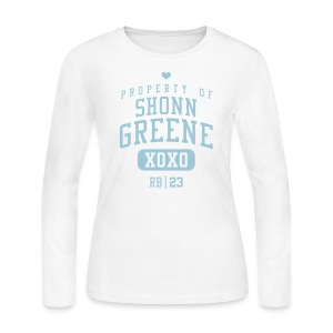 PROPERTY OF Shonn Greene (RB #23) XOXO - Women's Long Sleeve Jersey T-Shirt