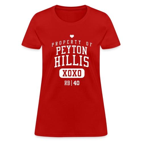 PROPERTY OF Peyton Hillis (RB #40) XOXO - Women's T-Shirt