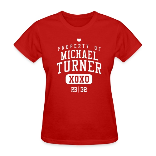 PROPERTY OF Michael Turner (RB #33) XOXO - Women's T-Shirt