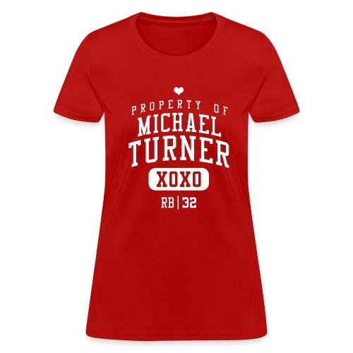 PROPERTY OF Michael Turner (RB #33) XOXO - Women's T-Shirt