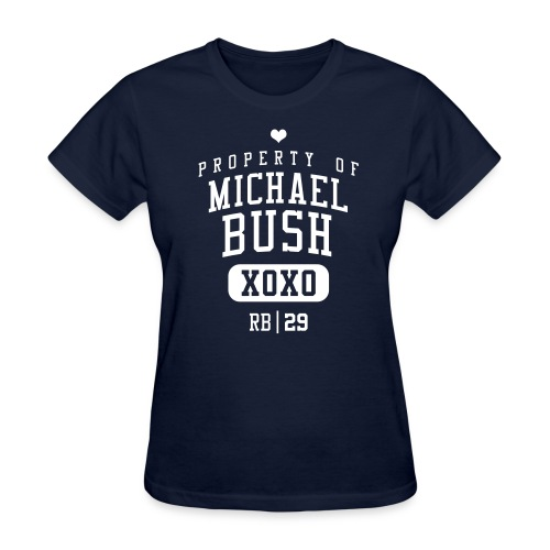 PROPERTY OF Michael Bush (RB #29) XOXO - Women's T-Shirt