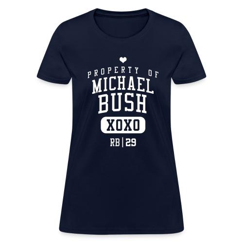 PROPERTY OF Michael Bush (RB #29) XOXO - Women's T-Shirt