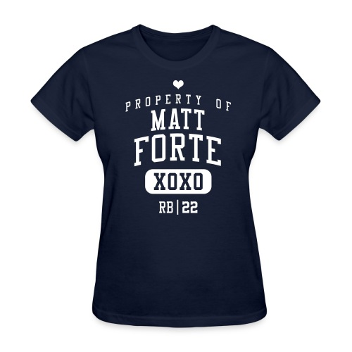 PROPERTY OF Matt Forte (RB #22) XOXO - Women's T-Shirt
