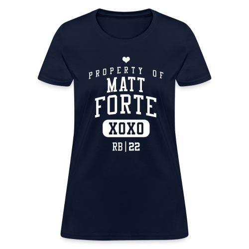 PROPERTY OF Matt Forte (RB #22) XOXO - Women's T-Shirt