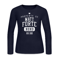 Long Sleeve Shirts ~ Women's Long Sleeve Jersey T-Shirt ~ PROPERTY OF Matt Forte (RB #22) XOXO