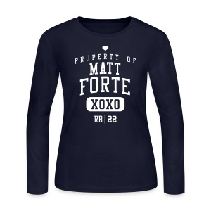 PROPERTY OF Matt Forte (RB #22) XOXO - Women's Long Sleeve Jersey T-Shirt