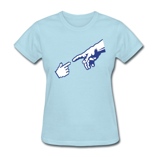 Hand of god (Michelangelo)  - Women's T-Shirt