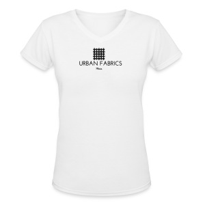 Urban Fabrics (BK) - Women's V-Neck T-Shirt
