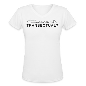 Transectual (BK) - Women's V-Neck T-Shirt