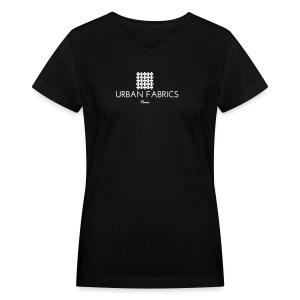 Urban Fabrics (WHT) - Women's V-Neck T-Shirt