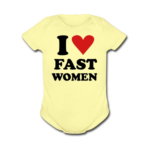 Heart Fast Women /    / Baby - Short Sleeve Baby Bodysuit