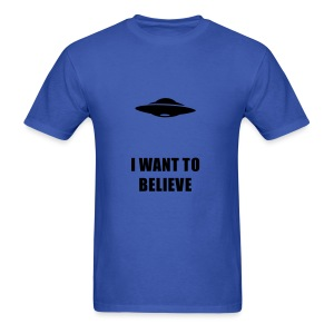 UFO I want to Believe - Men's T-Shirt