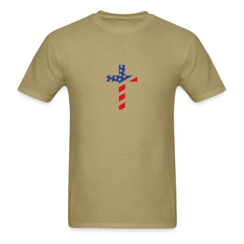 American (Small) Cross T Shirt - Men's T-Shirt