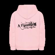 Sweatshirts ~ Kids' Hoodie ~ AHWWG Black Logo Kids Back Design