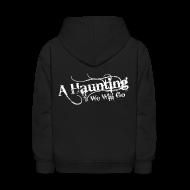 Sweatshirts ~ Kids' Hoodie ~ AHWWG White Logo Kids Back Design