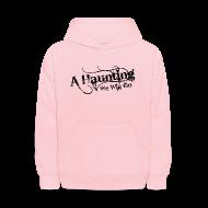 Sweatshirts ~ Kids' Hoodie ~ AHWWG Black Logo Kids Front Design