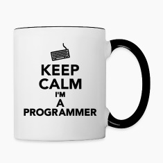 Keep calm I'm a Programmer Bottles & Mugs