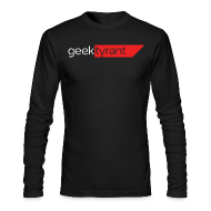 Long Sleeve Shirts ~ Men's Long Sleeve T-Shirt by Next Level ~ Mens Long Sleeve  // GeekTyrant RED Logo