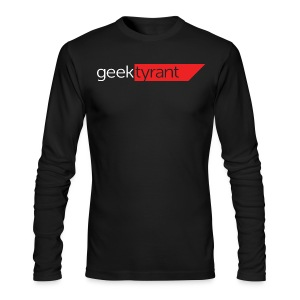 Mens Long Sleeve  // GeekTyrant RED Logo - Men's Long Sleeve T-Shirt by Next Level