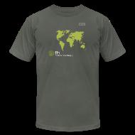 T-Shirts ~ Men's T-Shirt by American Apparel ~ FH Map Green