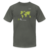 T-Shirts ~ Men's T-Shirt by American Apparel ~ FH Map Green