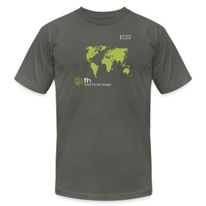 FH Map Green - Men's T-Shirt by American Apparel