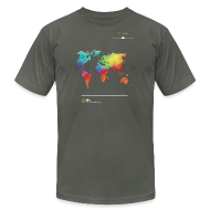 T-Shirts ~ Men's T-Shirt by American Apparel ~ FH Map 1