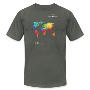 FH Map 1 - Men's T-Shirt by American Apparel