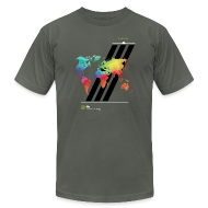T-Shirts ~ Men's T-Shirt by American Apparel ~ FH Map 2
