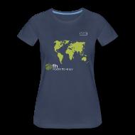 Women's T-Shirts ~ Women's Premium T-Shirt ~ FH Map Green